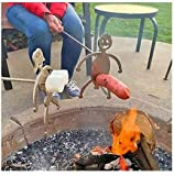Hot Dog Roaster, Stainless Steel Marshmallow Roaster, Novelty Barbecue BBQ Tools, Barbecue Forks Accessories for Campfire, Bonfire and Grill (Marshmallow Girl + Hot Dog Boy) MA