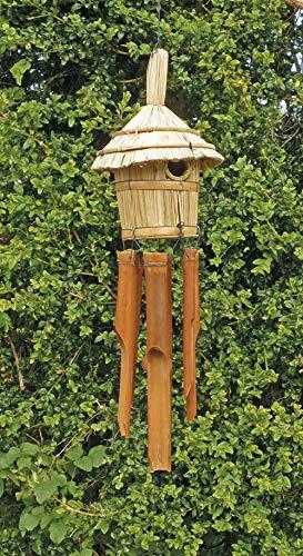 Sunlover Bamboe Windchime & Vogelhuis Rietje Ideaal voor Tuin Vogels Muzikale Chimes Gerecycled Eco Vriendelijke Fair Trade BDH10