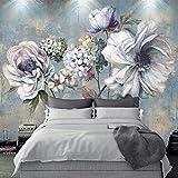 asfdgkwejd Póster de pared de papel tapiz 130x80CM Vintage flores pintura al óleo Arte de pared que pinta la imagen impresa en lienzo imágenes para decoración del hogar regalo de decoración XL