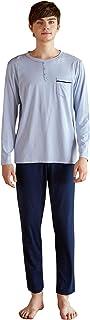 YAOMEI Mens Pyjamas Set Modal Cotton Long, 2020 Mens Silky Long Sleeves Nighties Couples PJ Set Sleepwear Nightwear, Linge...