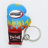 TWINS ボクシンググローブ キーリング 水色ファイヤー キーホルダー ストラップ ツインズ ボクシング 格闘技 リアル ミニ ムエタイ 人気商品