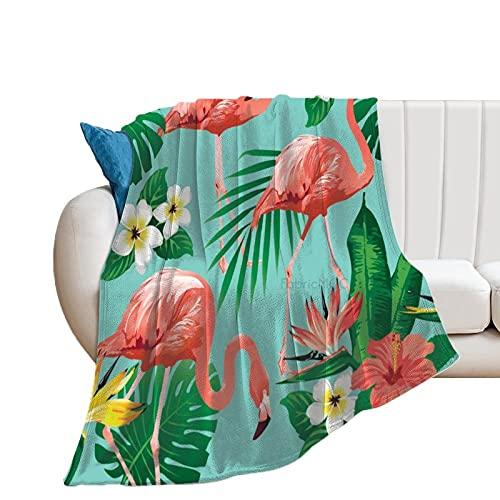 Manta de forro polar Unise x para decoración de la habitación de la cama, 60 x 80 pulgadas, flamenco, manta suave y cálida, manta de microfibra de felpa para cuna cochecito de bebé