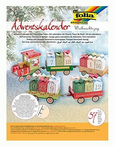 Folia – adventskalender, ideaal voor kleine cadeautjes in de adventskalender Kerstmis multicolor
