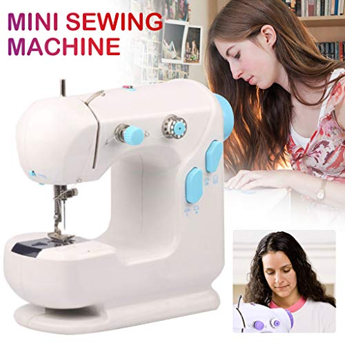 Fantastic Prices! Mini Sewing Machine for Beginners, Adjustable 2-Speed Double Thread Electric Sewin...