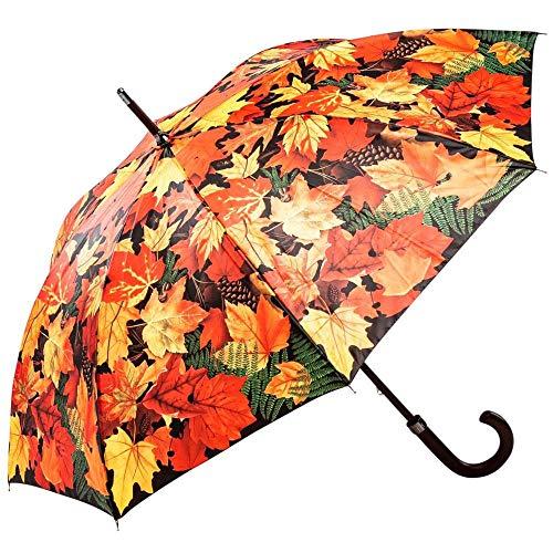 Regenschirm Stockschirm Damen Herren Motiv HERBSTLAUB