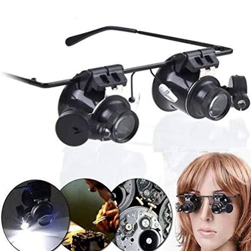20x Lupa Con Luz Led - Gafas Lupa De Aumento Con Luz Para Mo