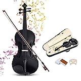 RELAX4LIFE Violine Größe 4/4, Geige mit Koffer, Violine Set aus Massivholz, für Anfänger & Musikliebhaber & Studenten, inkl. Bogen & Kolophonium & Saite & Griffbrettaufkleber, Fichte...