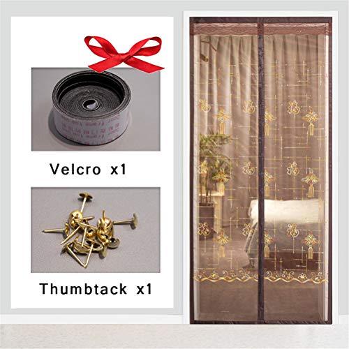 Magnetische deur-deur-horren mesh anti-muggennet voor balkon, schuifdeuren, woonkamer 110x200cm D