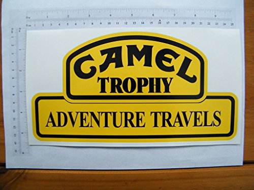The Cool Graphic Camel Trophy Adventure Travels, Full Colour Sticker, 252mmx135mm, S026