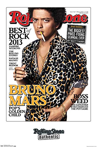 Trends International Rolling Stone Bruno Mars Wall Poster 22.375' x 34'