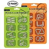 Surplex 16 Pezzi Set di Rompicapo in Metallo, Giocattoli Educativi IQ Test Puzzle Perfetto...