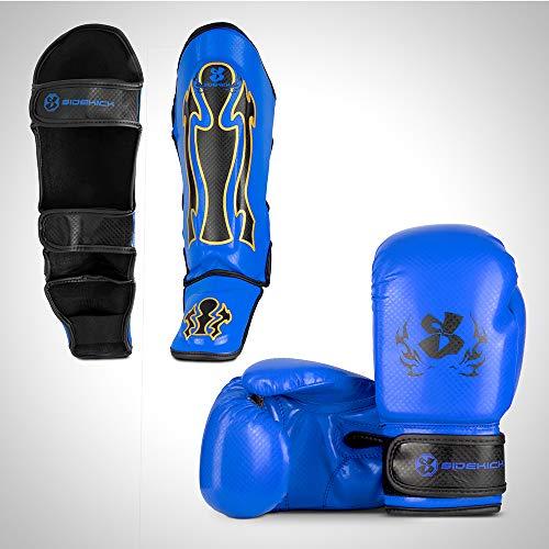 Sidekick Spartan Kinder Kickboxen Gear Zubehör-Set 180g Boxhandschuhe Schienbeinschoner