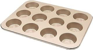 Hli-SHJHsmu 12 Holes Mini Muffin Bun Cupcake Baking Bakeware Mould Tray Pan Mold Kitchen Cupcake Circular Nonstick Cake Baking Mould Die Mould