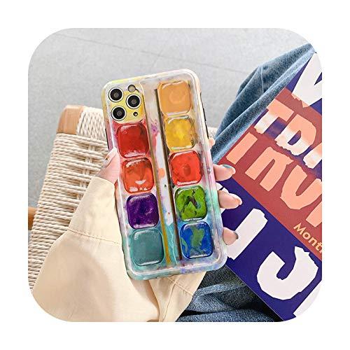 Phone cover Caja del teléfono del patrón de la bandeja de pintura al óleo del arte para Iphone Se2020 11Pro Max 7 8 Plus Xr Xs Max X Soft Imd Cámara Protección-Color-Para Iphone 8 Plus