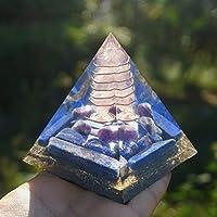 Sairui 手作りローズクリスタルオルゴンピラミッド70mmラージサイズラピスラズリエナジークォーツ 天然石 原石 (Size : 70mm)