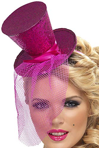 Smiffys, Fever, Damen Mini Hut auf Haarreif, One Size,Rosa