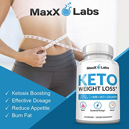Keto Diet Pills - New - Exogenous Ketones Supplement Advanced Weight Loss for Women & Men with Best Ketogenic Fat Burner Beta Hydroxybutyrate BHB Salts to Keto Burn Fat - Easy to Swallow Capsules 6