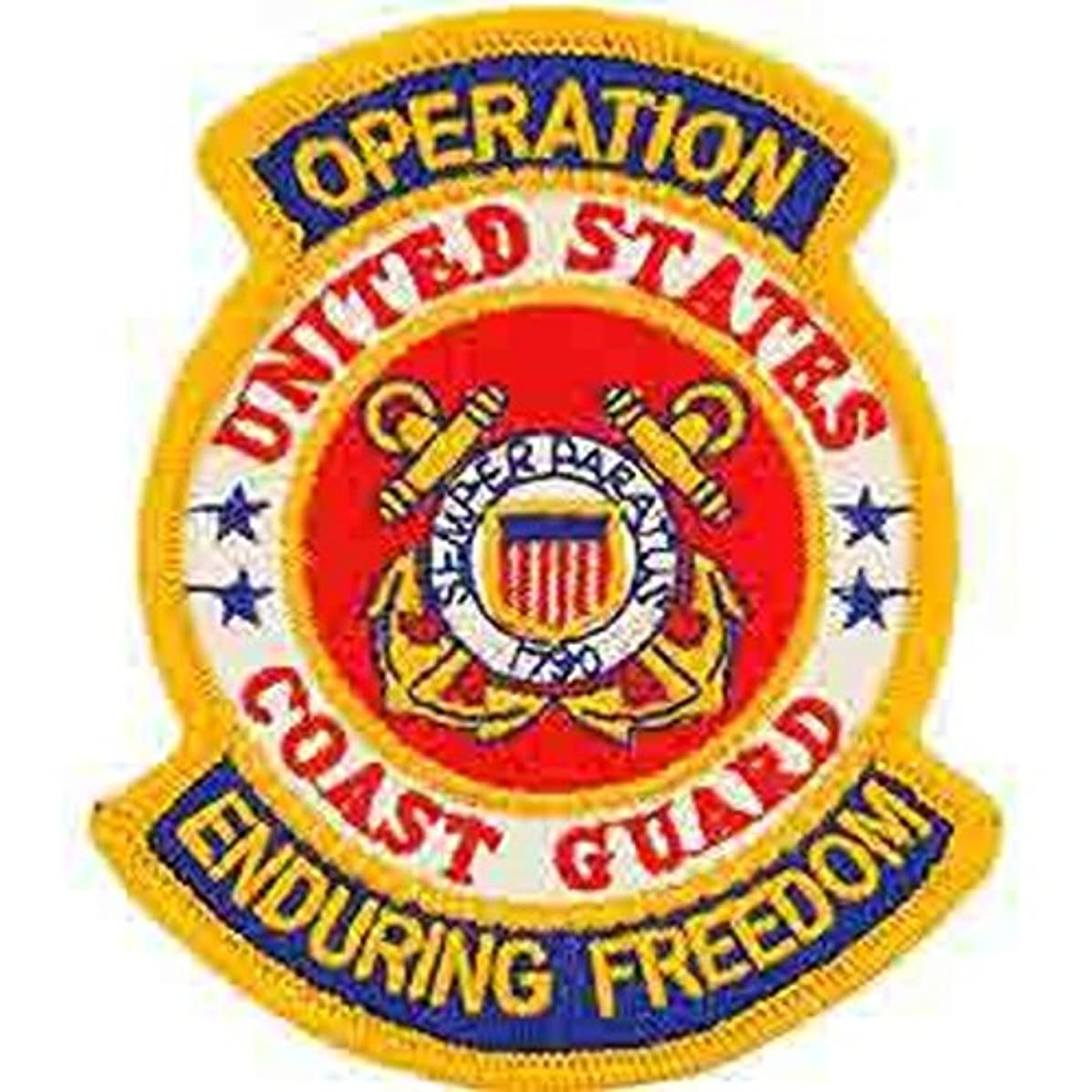 EagleEmblems PM1174 Patch-Enduring Freed.USCG (3.625'')