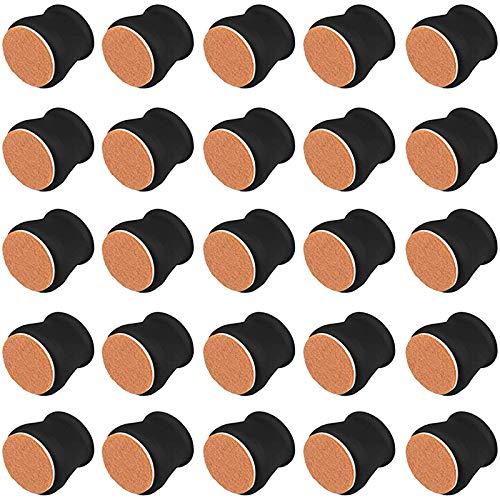 JVSISM Tapas Protectoras para Piernas de Silla de 36 Piezas, Fundas de Pies de Mesa de Muebles de Silicona Suave con Fondo de Fieltro