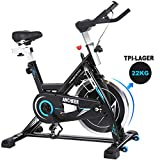 ANCHEER Indoor Cycling Bike Heimtrainer Hometrainer Fahrrad - 22KG Silent Belt Drive Verchromtes mit...
