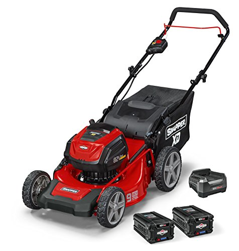 "Snapper XD 82V MAX Cordless Electric 19"" Push Lawn Mower, includes Kit of 2 2.0 Batteries and Rapid Charger"