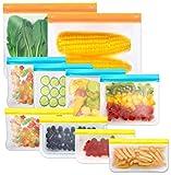 Reusable Storage Bags, 10 Pack BPA Free PEVA Resuable...