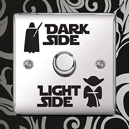 """Aufkleber """"Dark Side - Light Side"""" Vinyl Sticker für Lichtschalter Kinderzimmer durch Inspired Walls® (5 SETS)"""