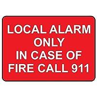 126火災の場合にのみ新しいブリキサインローカルアラーム911ホワイトアルミニウムメタル道路標識壁装飾8x12インチ