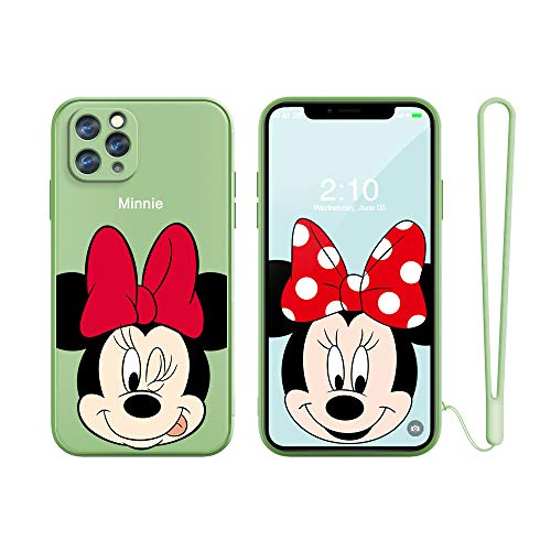 for iPhone 6 Case, iPhone 6S Case, Slim Cartoon Kwaii Kids Girls Soft TPU Straight Edge Liquid Shockproof Protector Cover Skin Shell for Apple iPhone 6S /6/6G 4.7'' with Free Lanyard Gift