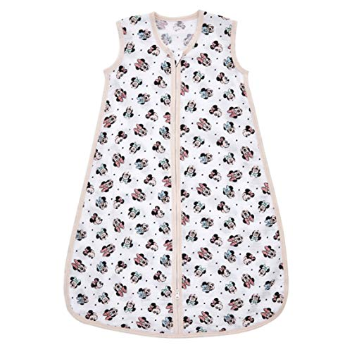 aden + anais Sleeping Bag, 100% Cotton Muslin, Wearable Baby Swaddle Blanket, X-Large, 18 Months, Minnie Rainbows