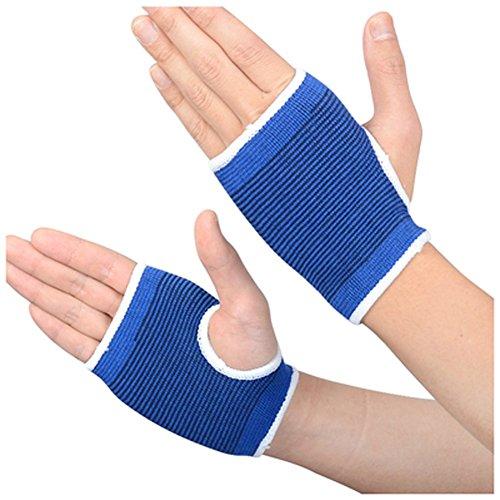 Une Paire de Gants Tricot Poignet Palmier Soutien Wrap Poignet Support sans Doigts protectrice soulager la Douleur. Bande pour Le Sport Protect