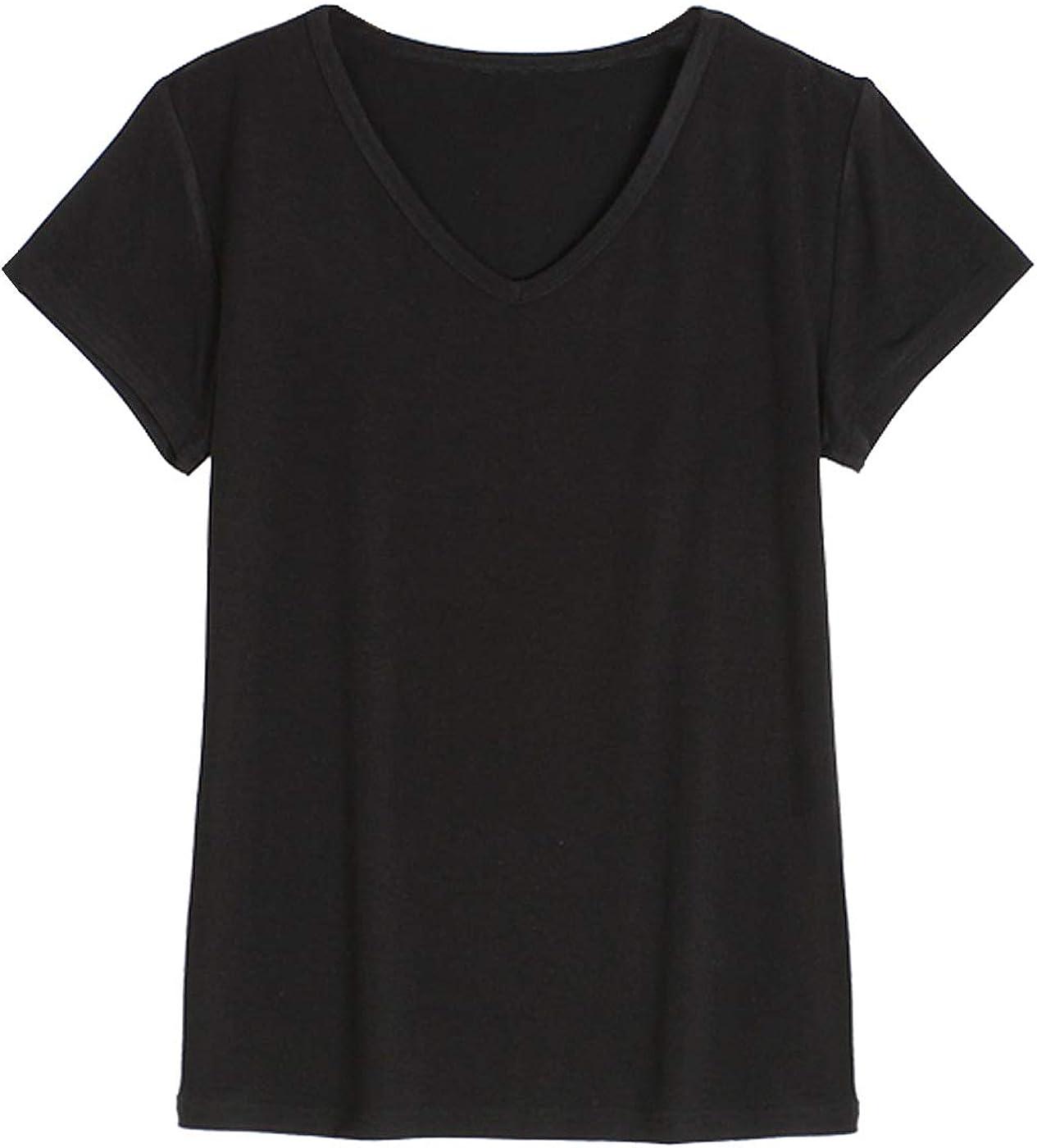 Jusfitsu Summer Women Pajama Set Short Sleeve Modal Sleepwear Top and Short Cotton Soft Loungewear Elastic