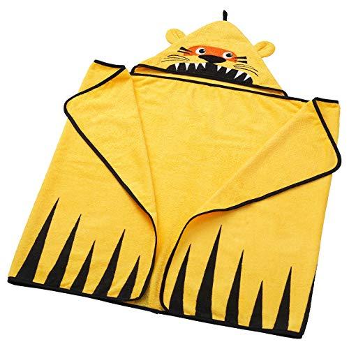 My Stylo Collection Handtuch mit Kapuze, Tiger, gelb, Produktgröße: Länge: 140 cm, Breite: 70 cm, Material: 100% Baumwolle