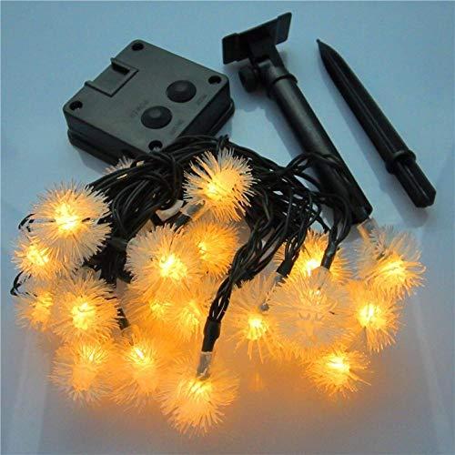 Gyyl Diente de león 20led Cadena Solar de Luces IP65 Impermeable Guirnaldas Luminosas para Exterior,Interior, Jardines, Casas, Boda, Fiesta de Navidad