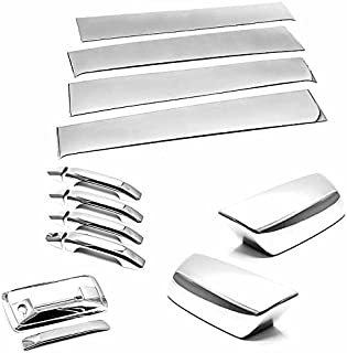 TX Racing Shipping from USA Super Combo Pillar Trims + Mirrors + Handles + Tail Gate Cover Covers for 2014-2018 Chevrolet Silverado/GMC Sierra 1500/2500/3500 Crew CAB ONLY