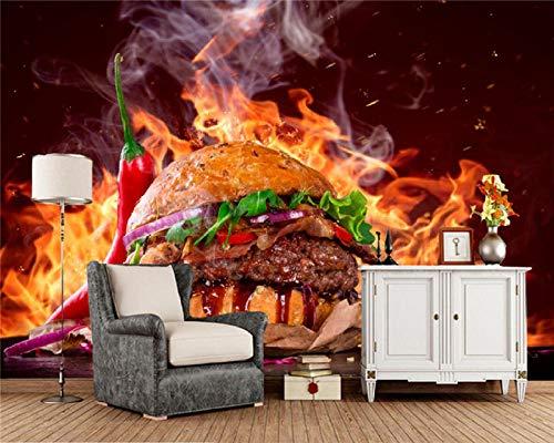 wallmuralthree Wandtbilder Wandaufkleber Bilder & Kunstwerke Wandaufkleber Tapete Wandbild Hintergrund Foto Western Restaurant Hd Burger-Shop Handbemalt_350Cm (B) X250Cm (H)