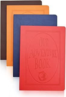 XYTMY PU Leather Journals A5 Notebook Embossed OUR ADVENTURE BOOK Cover with Designed Cartoon Inner Papers (Set of 4,Fixed Colors)