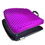 Bingyee Gel Seat Cushion 1.8 Inch Cooling Gel Double Seat Cushion for Pressure Relief Orthopedic Chair Pads for Home Chair Office Chair Car Seat Cushion Sweatproof Bottom for Long Sitting
