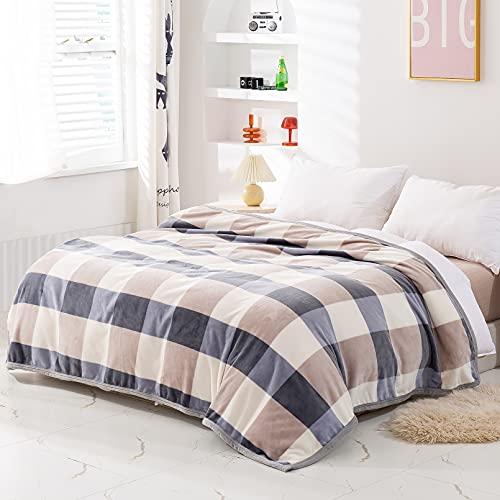 Yoofoss Kuscheldecke 150 x 200 cm Weiche Warme Decken Karierte Decke als Sofadecke Couchdecke kuschel Wohndecke