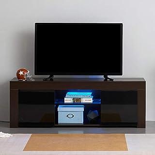 Amazon Fr Meuble Tv Haut Marron