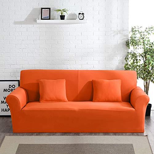 KTUCN Funda elástica para sofá para Sala de Estar, Funda elástica para Muebles, Funda Universal para sofá, Funda para sofá, 1/2/3/4 plazas, Naranja, 2 Seater 145-185cm