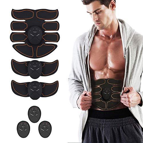 Nitoer Elettrostimolatore Muscolare, EMS Suscolo Addominale, Addominali Attrezzi ABS, Addome/Braccio/Gambe/Waist/Glutei Massaggi-Attrezzi, 6 modalità e 10 Livelli di Intensità-Uomo/Donna