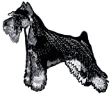 Schnauzer Dog Embroidered Patch Iron-On Black White Canine Souvenir