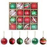 Weihnachtskugeln Weihnachtsbaumschmuck Bruchsicher Plastik Elfen Thema Rot Grün Weiß