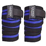 Ultra Fitness - Rodilleras para levantamiento de pesas, color azul
