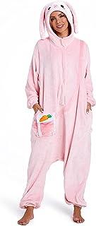 OLAOLA うさぎ 着ぐるみ パジャマ 大人用 部屋着 動物 ウサギ コスチューム 仮装 もふもふ 暖かい 部屋 防寒 対策 ふわふわ 冬用パジャマ 可愛い フランネル 男女兼用 兎 L