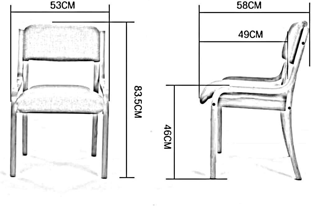 WYYY chaise de Bureau Chaise De Salle À Manger, Bois Massif Lounge Chair Accoudoir Chaise De Restaurant D'hôtel Chaise De Réception Durable Fort (Color : T2) T8