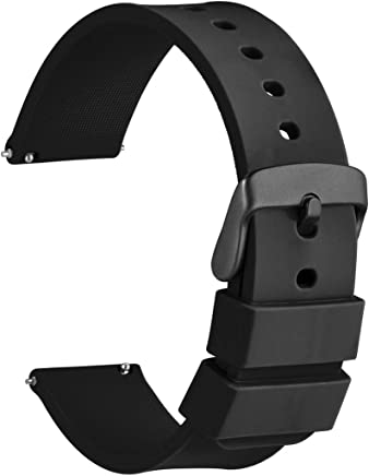 72c832dcf7 [WOCCI]ラバーベルト シリコン18mm 防水時計替えベルト Quick Release ゴム腕時計バンド