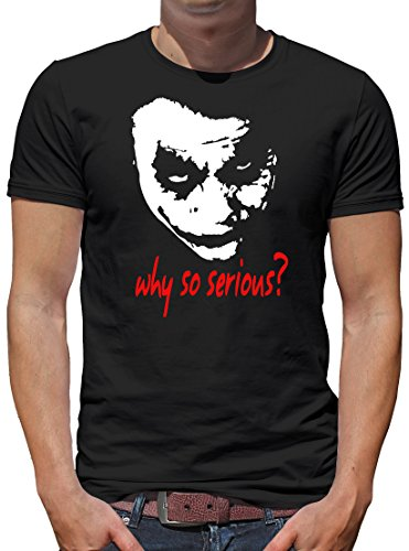 TShirt-People Joker Why so Serious? T-Shirt Herren L Schwarz