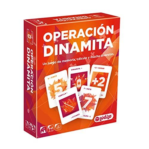 Lúdilo Operación Dinamita, Cartas, Juegos educativos para niños, Potencia la Memoria y el cálculo, Aprender matemáticas en Familia, Mayores de 7 años 803047
